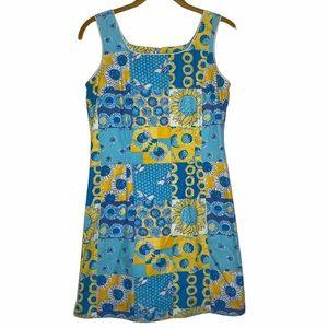 VTG Lilly Pulitzer Sunflower Bees Patchwork Dress